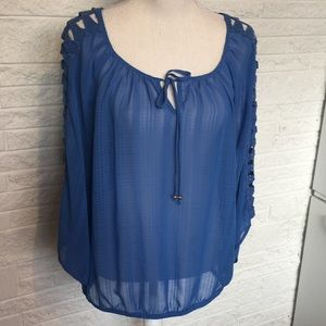Alyx lace inset sheer top